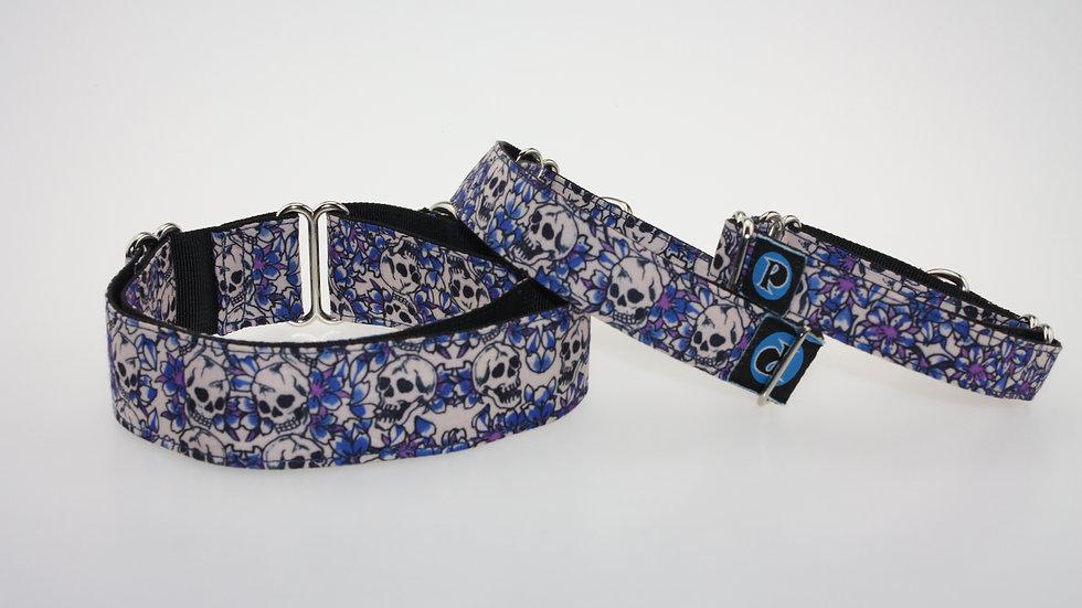Collier Tête de Mort Bleu