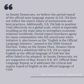 Partial Repeal of the Official State Language Statute