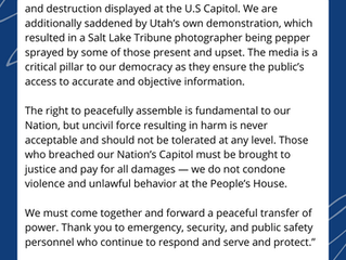 Caucus Statement on Today's Violence at the U.S. Capitol