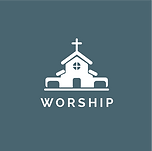 WORSHIP from connect_white with blue bac