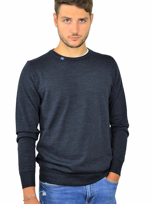 Maglione Uomo Blu Indaco   Fortunale