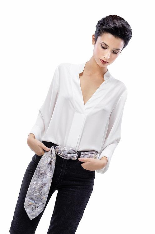 Foulard Silk Twill | Adima-Silver