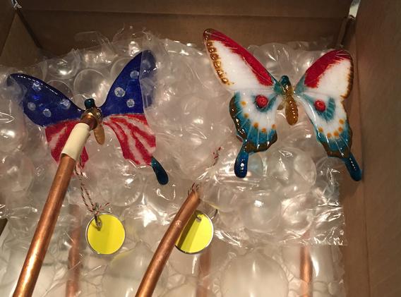 Packed Yard Art Butterflies