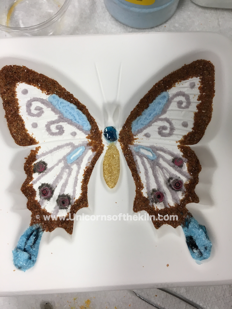 working with fine glass frit