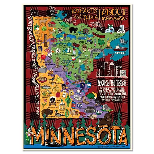 "Minnesota Trivia Poster 18""x24"""