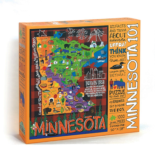 Minnesota 101 Trivia Puzzle