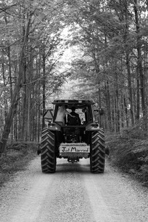 Country Wedding Tractor