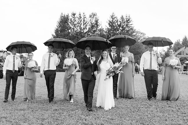 Country Wedding Black and White