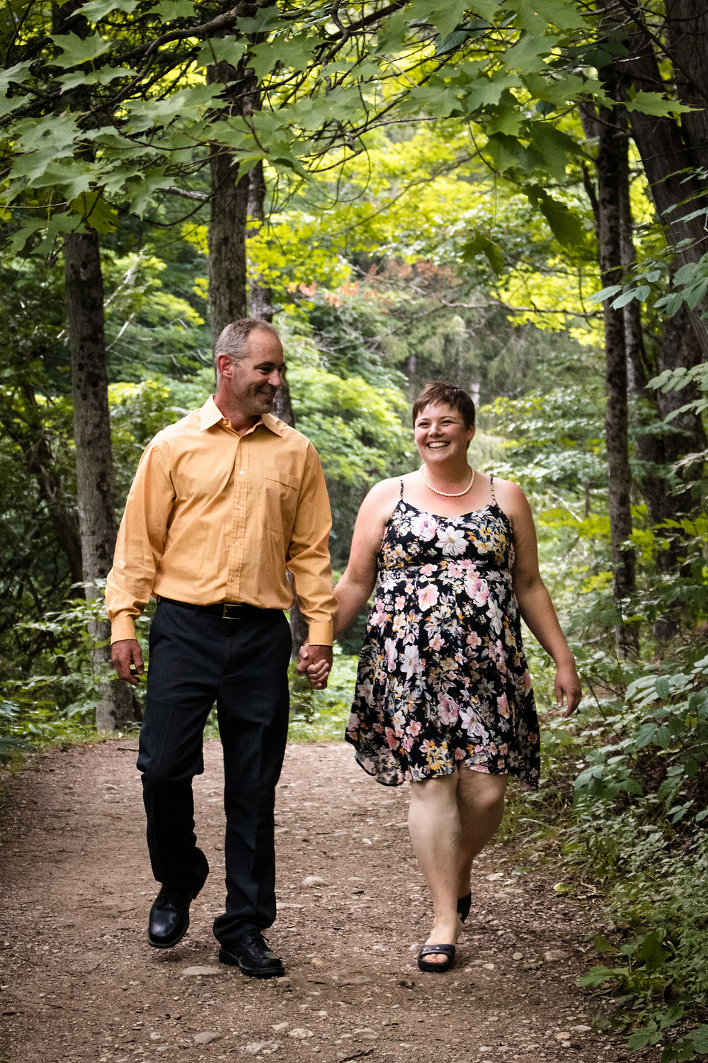 Engagement Photo at Hogg's Falls in Flesherton Ontario by Kelsey Bowles Media