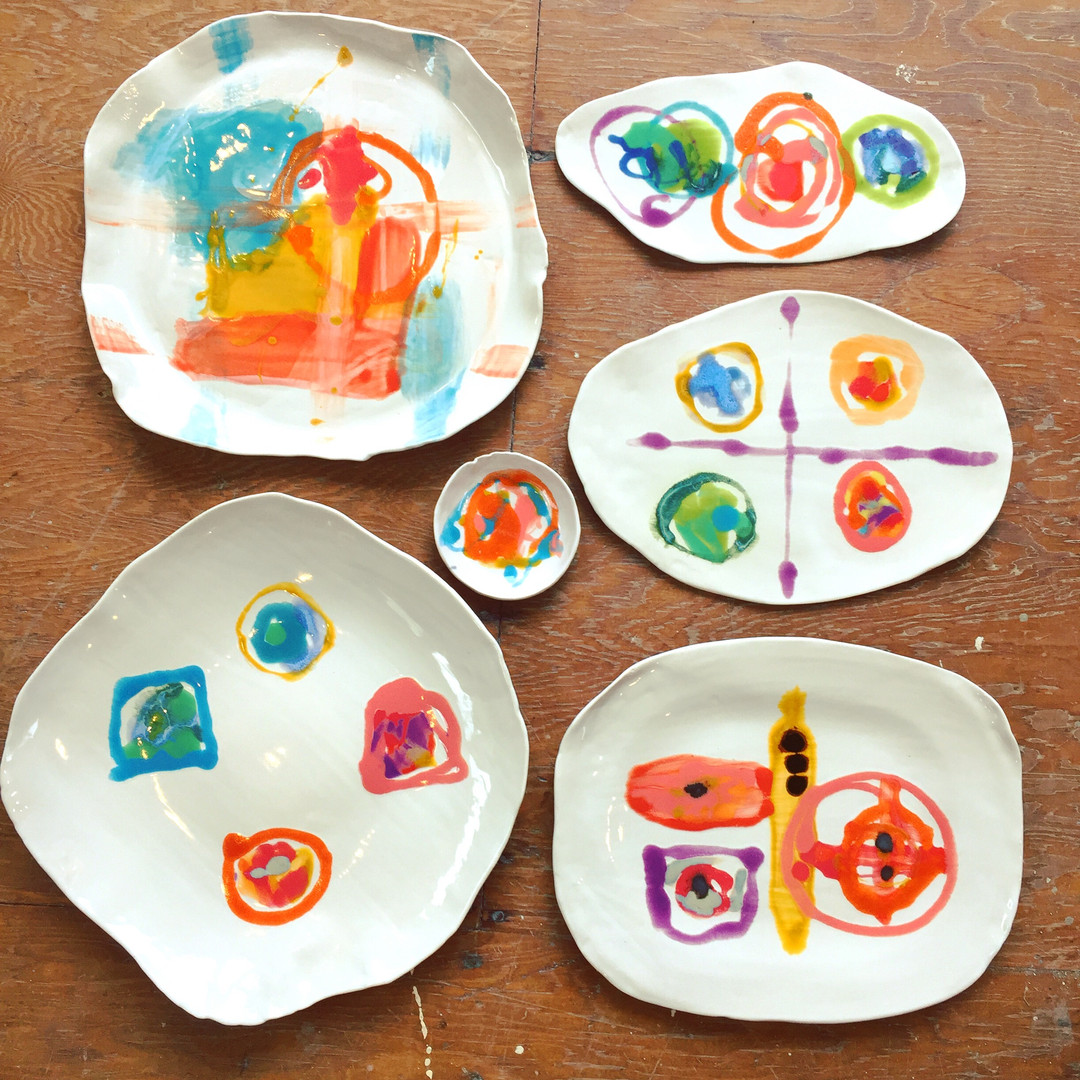 Abstract Porcelain Set