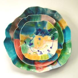 Abstract plates and bowls