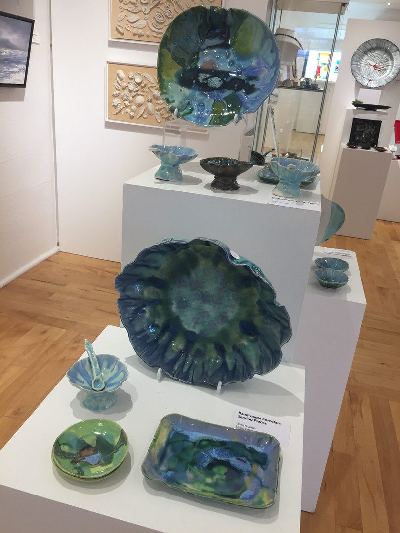 Part of my display at Arts On Main Gallery