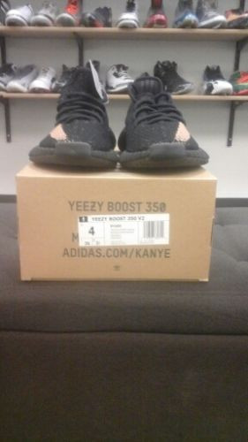 ADIDAS X YEEZY BLACK RED 350 BOOST v2 BY 9612 100 Cheap Sale