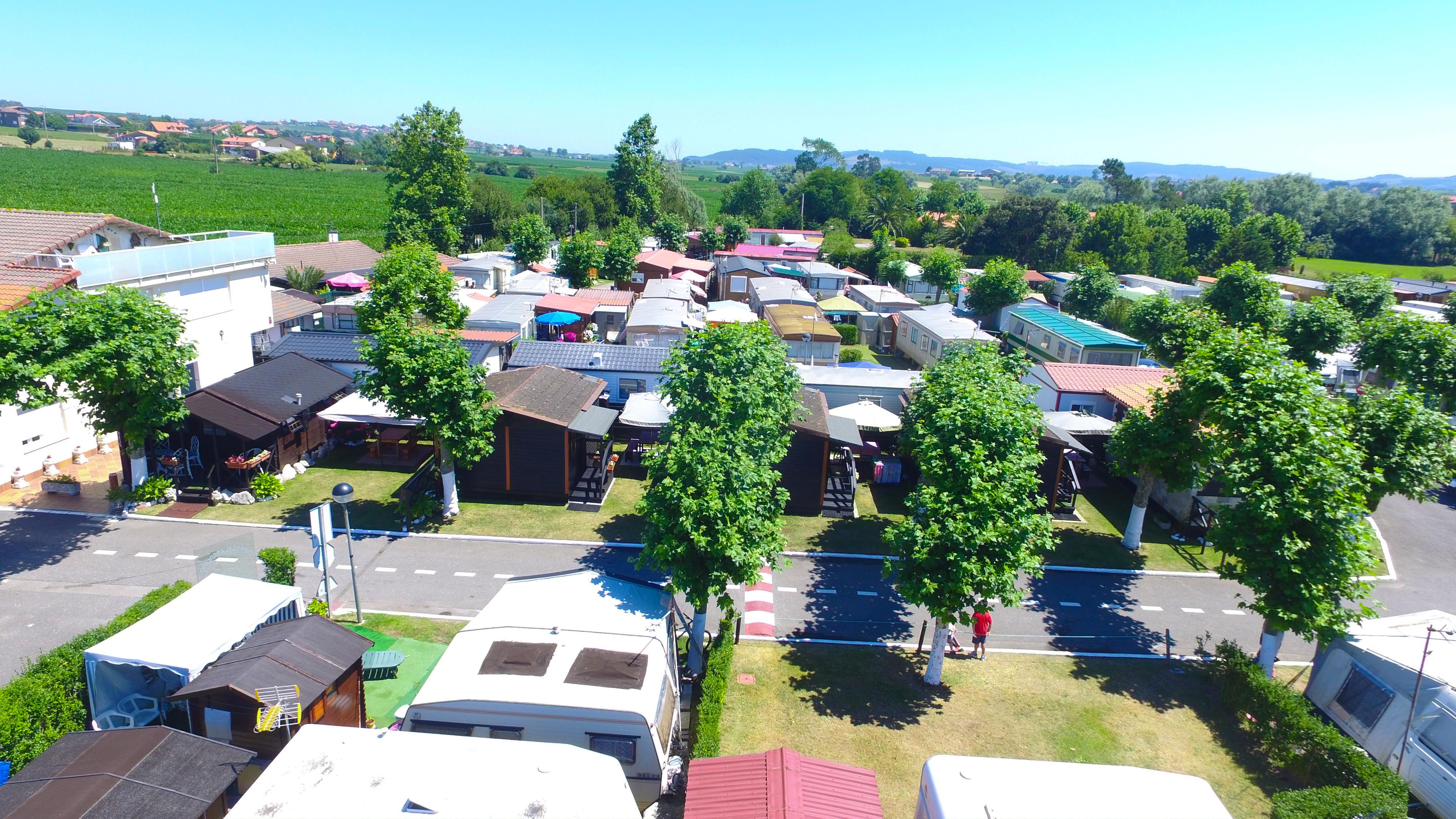 Vista aérea del camping