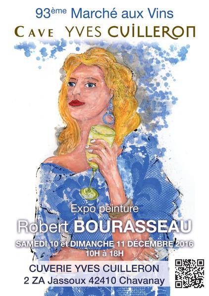 Exposition peintures de Robert Bourasseau le 10 & 11 décembre aux caves Yves Cuilleron - Chavann