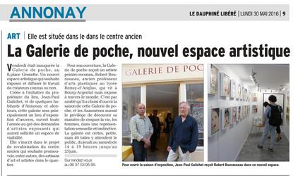 Galerie de Poche nouvel espace artistique à Annonay - exposition de l'artiste peintre Robert Bou