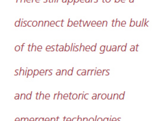 Honest Perspective on the State of #logtech in Ocean Shipping