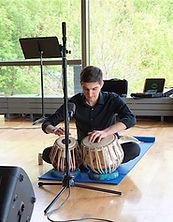 Dan Reifsteck performing tabla at Lawrence University
