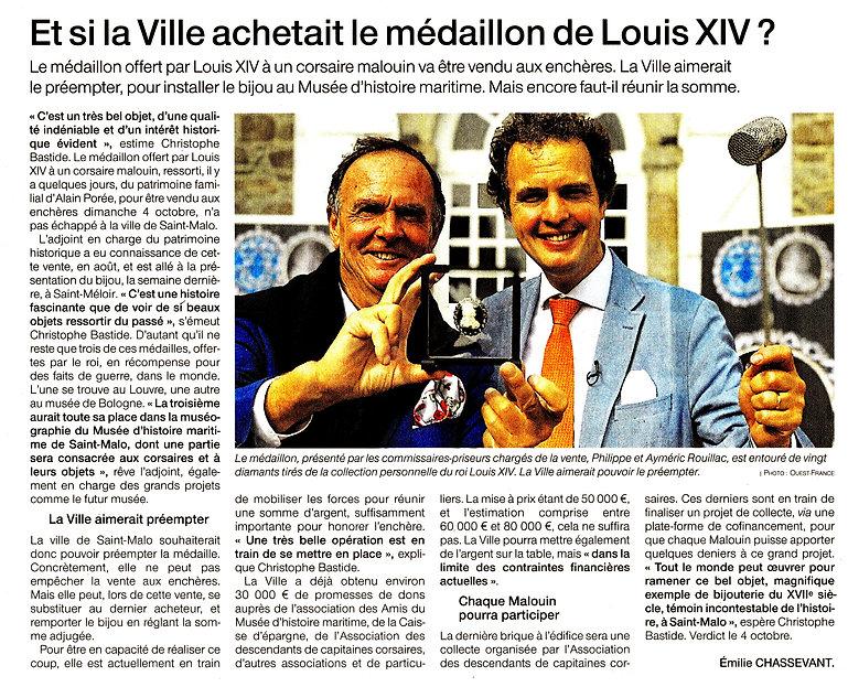 Ouest-France_2020-09-26_Médaillon_Louis