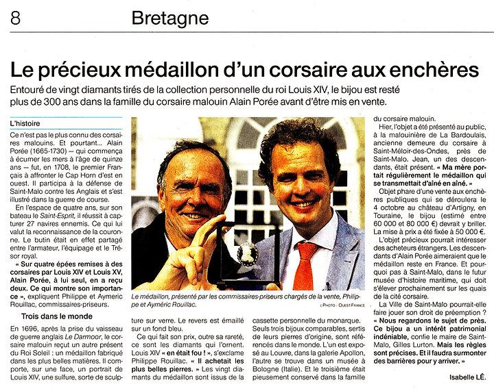 Ouest-France_2020-09-17_Médaillon_Louis