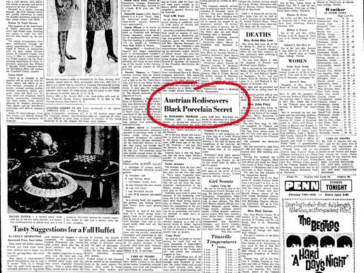 23.09.1964 - Austrian rediscovers black porcelain secret