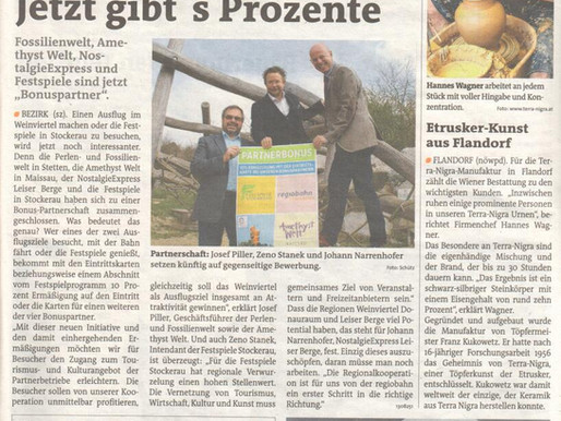 16.04.2015 - Bezirksblatt Korneuburg: Etrusker-Kunst aus Flandorf