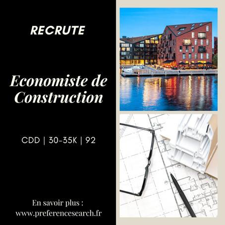 Un/Une Économiste de la construction (H/F)