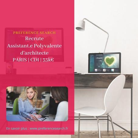 Assistant.e Polyvalent.e d'architecte H/F