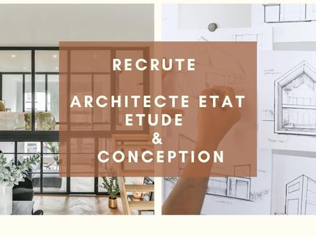Un/Une Architecte Etat - Etude et Conception