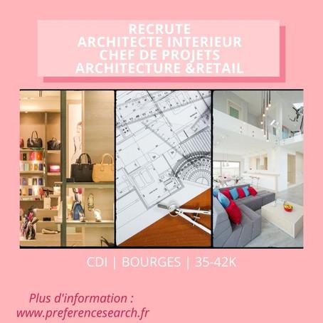 Architecte Interieur - Chef de projets Retail (H/F)