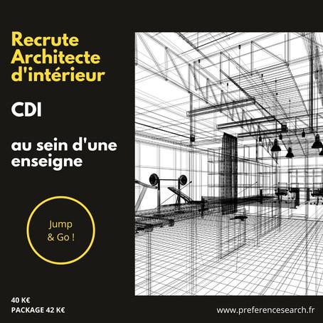 Architecte D'intérieur Chef De Projets Retail (H-F)
