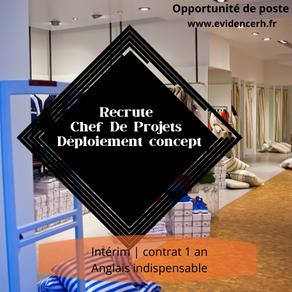 Architecte Chef de projet - Déploiement anglais courant, expérience Concept De Magasins (H/F)