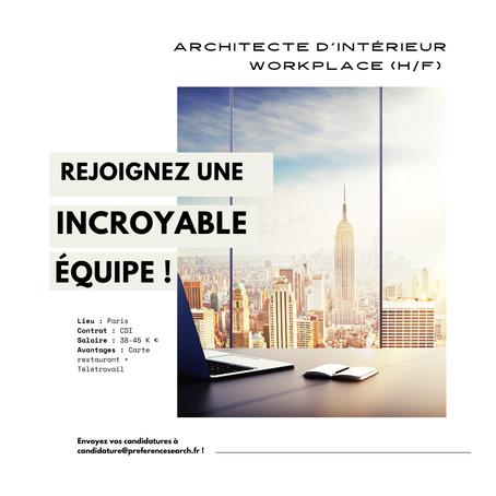 Architecte d'Intérieur Workplace (H/F)