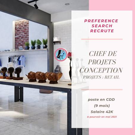 Un / Une Chef De Projets Conception Retail (H/F)