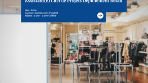 Assistant(e) chef de projets déploiement retail (H/F)