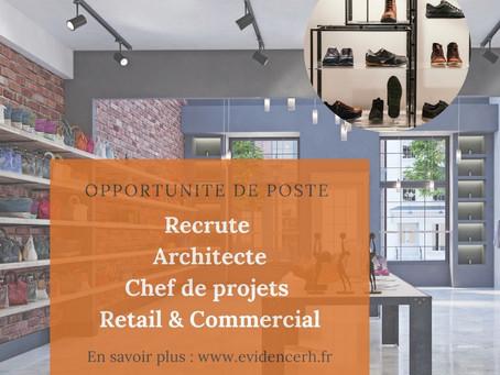 Un/Une Architecte Chef de projets – Retail et commerciale (H/F)
