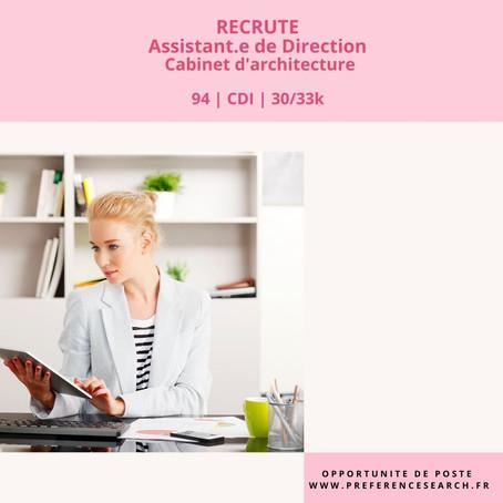 Assistante De Direction - Cabinet d'architecture H/F