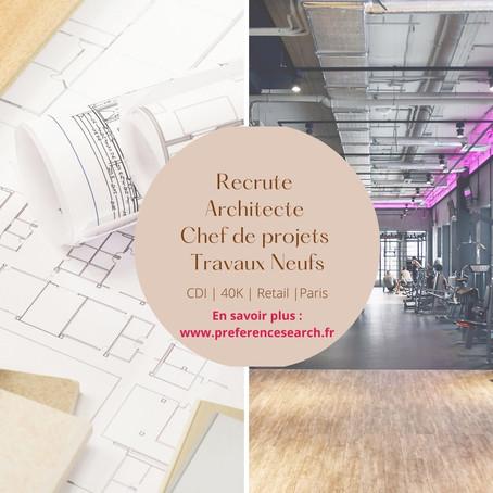 Architecte - Chef de Projet Travaux Neufs (H/F)