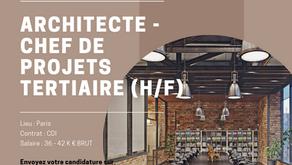 Architecte - Chef de Projets Tertiaire (H/F)