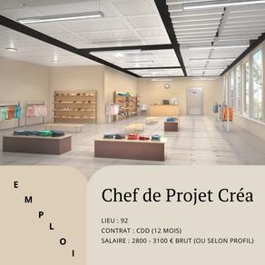 Chef de projet Créa Conception Magasin Proximité Et Restaurant (H/F)