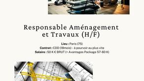 Responsable Aménagement et Travaux (H/F)