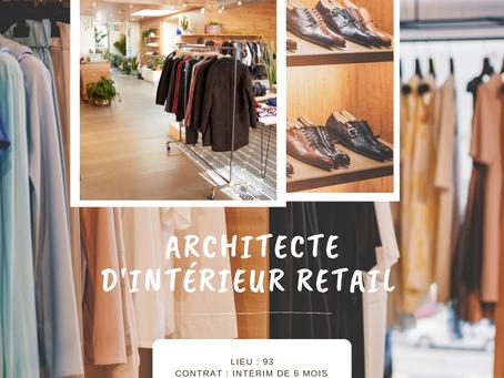 Architecte d'intérieur Retail PAP Anglais (H/F)