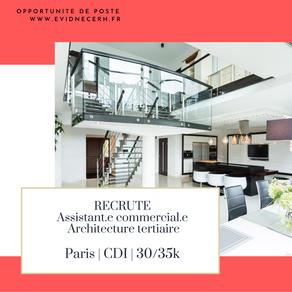 Un / Une Assistant.e Commercial.e Architecture  – Poste en CDD / Intérim