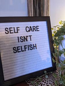 self care isn't selfish