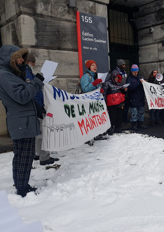 Manifestation de l'hôtel de ville