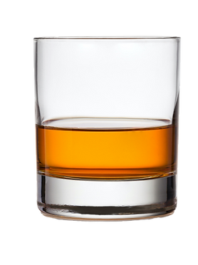 Glass_of_scotch_whiskey_and_ice_on_a_whi