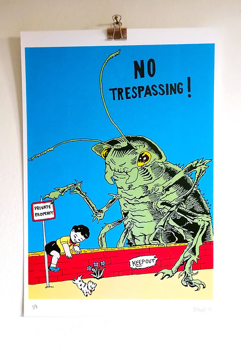 NO TREPASSING print