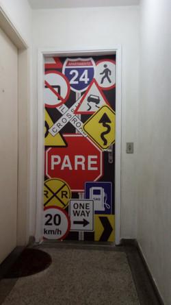 Adesivo decorativo para porta