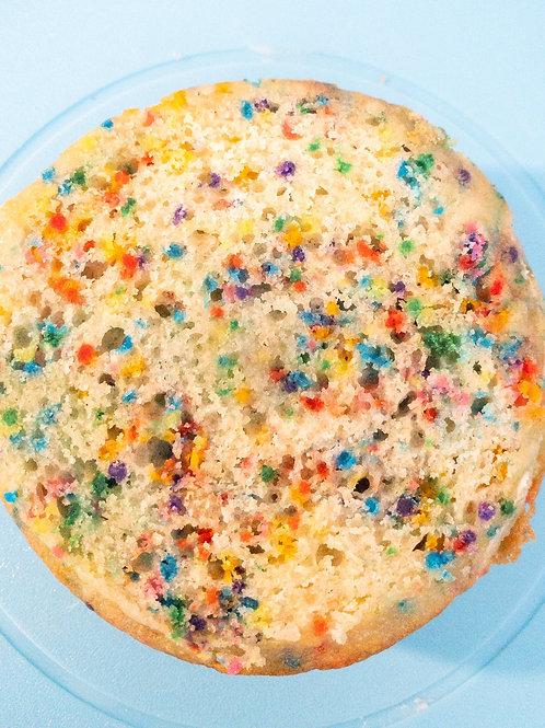 """Funfetti Cake 4"""" Round 3 Layers"""