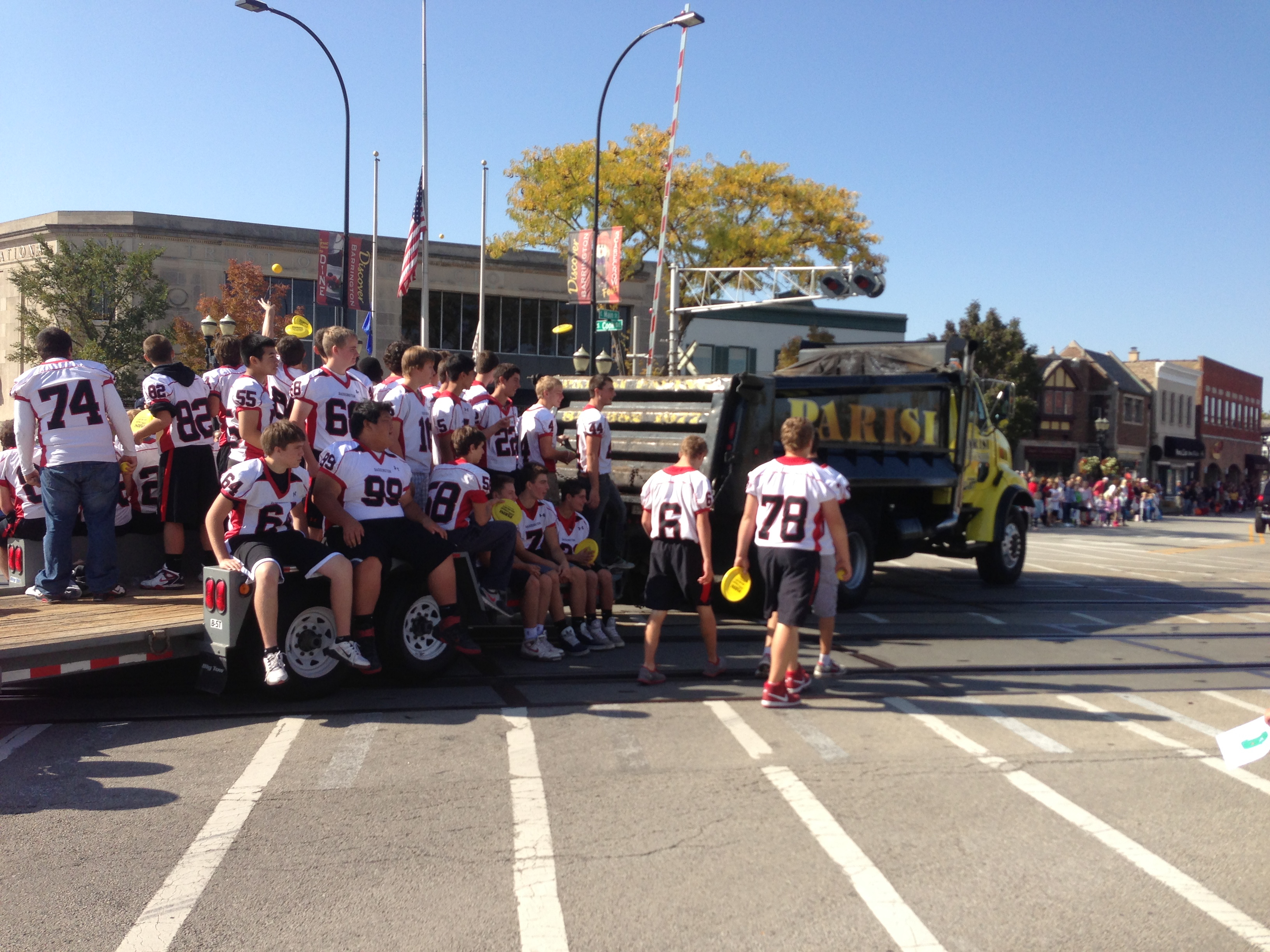 Parade football team